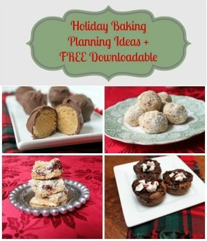 holiday baking planning-widget