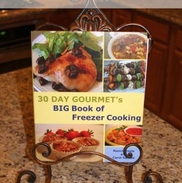 30 Day Gourmet's BIG Book of Freezer Cooking | Review MealPlanningMagic.com