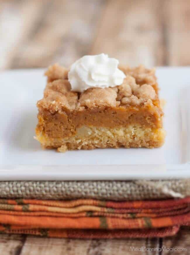 This Pumpkin Pie Dessert gives traditional pumpkin pie a makeover for a twist on an old favorite. It's easy to make ahead, too!