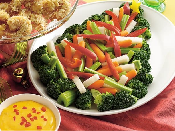 Vegetable Tray With Nacho Cheese Dip By Betty Crocker