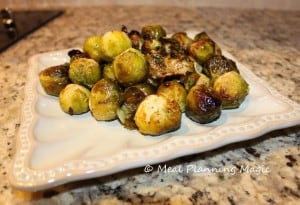 Love the caramelization on these sprouts!