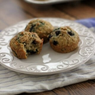 Blueberry Oatmeal Muffins | Recipe at MealPlanningMagic.com