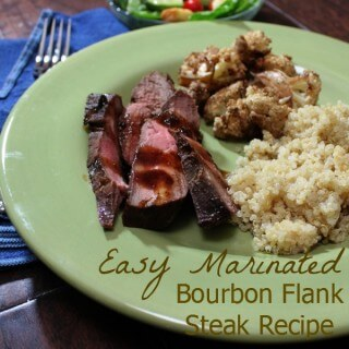 Easy Marinated Bourbon Flank Steak Recipe