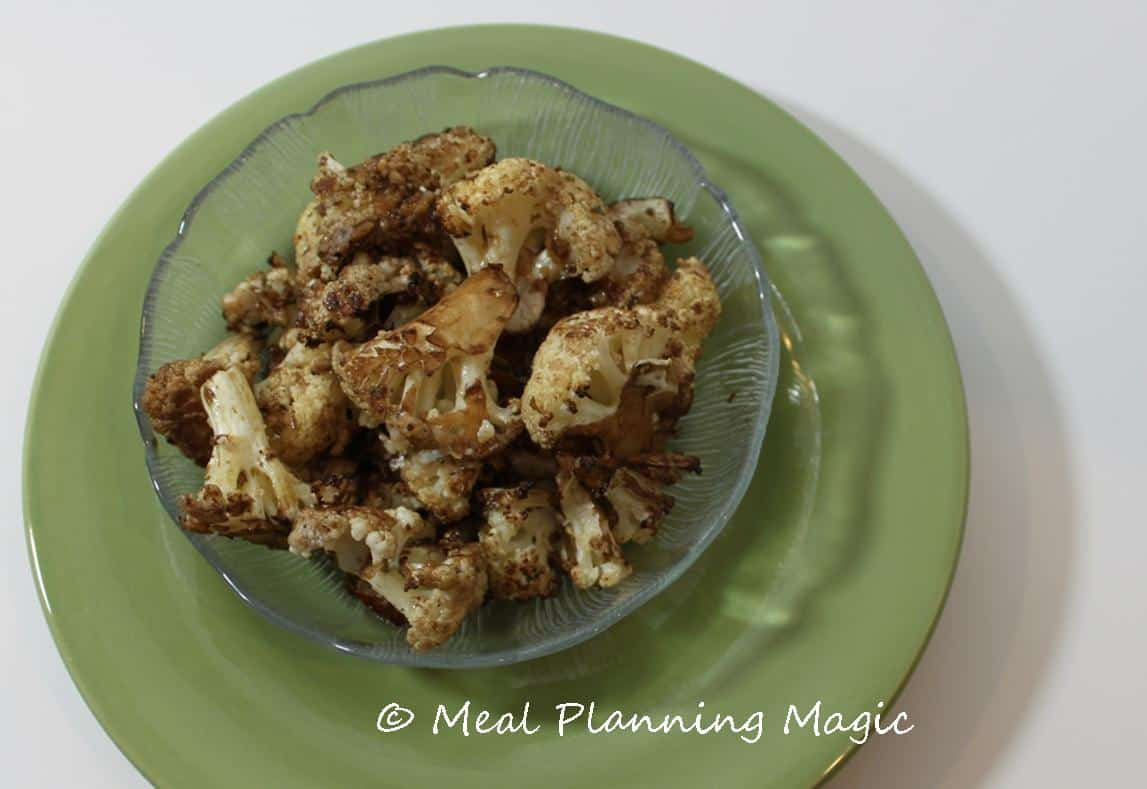 Balsamic Parmesan Cauliflower | Meal Planning Magic | #EatingA2ZChallenge