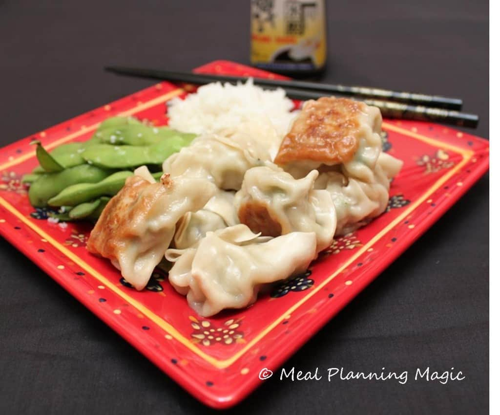 Chicken & Cabbage Potstickers--Make Ahead Freezable from @mealplanmom