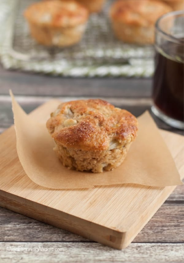 image of pear muffin with coffee