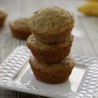 Easy Whole Wheat Banana Muffins