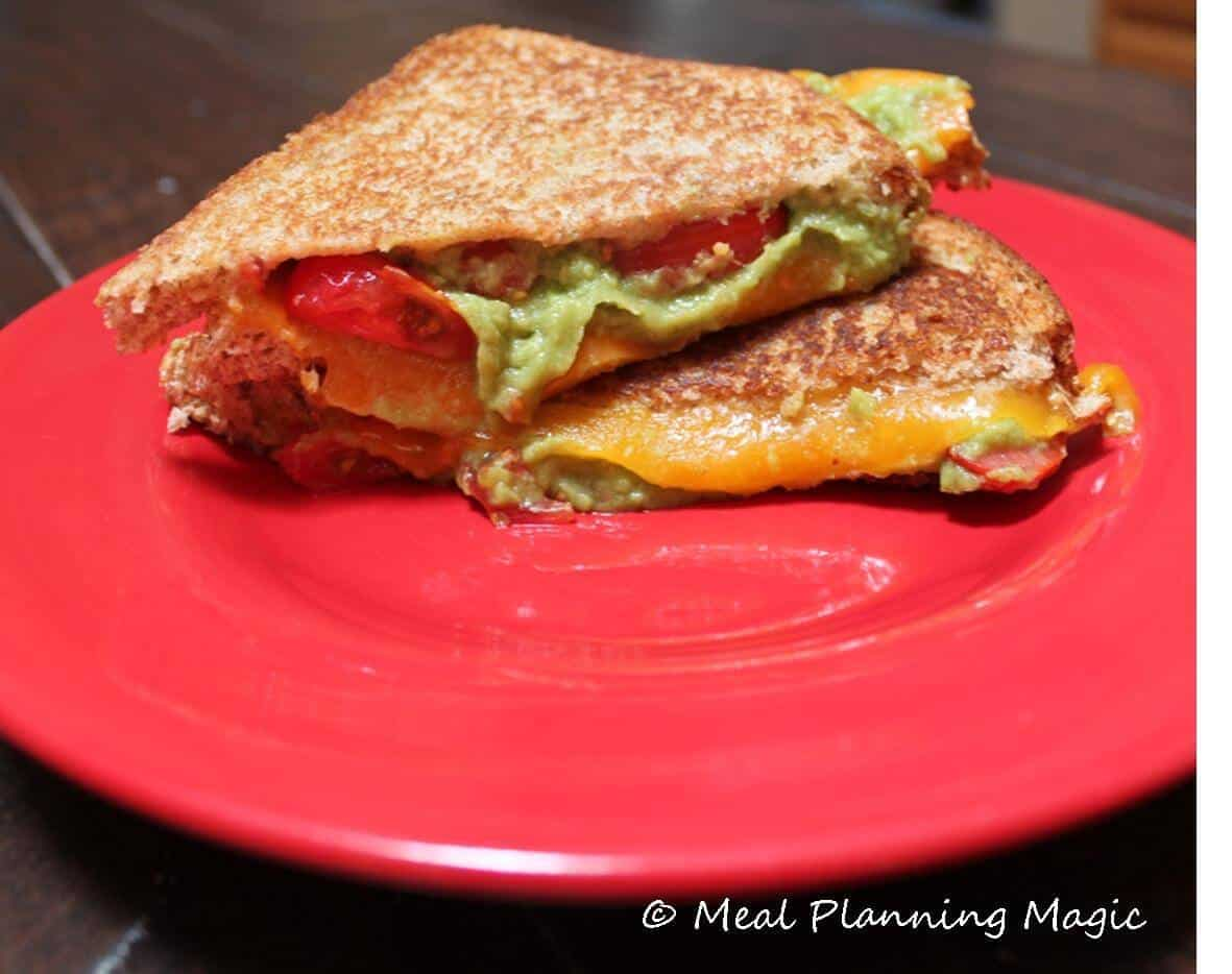 Avocado, Tomato and Cheddar Grilled Cheese Sandwich