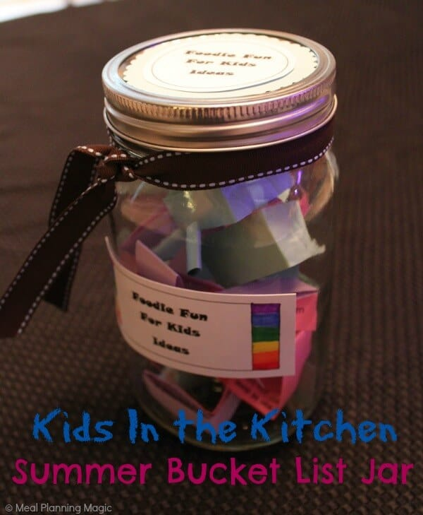 Summer Bucket List Meets Kids In the Kitchen | Free Downloadable | Meal Planning Magic