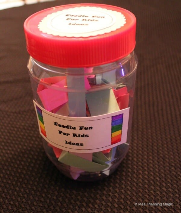 Reuse a cleaned out peanut butter jar if you want something that is shatterproof-better for little ones!