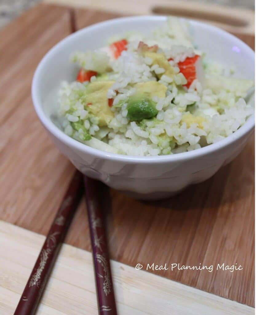 Jicama, Avocado & Crab Salad | Meal Planning Magic | #EatA2ZChallenge