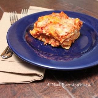 Lasagna with Turkey Meat Sauce