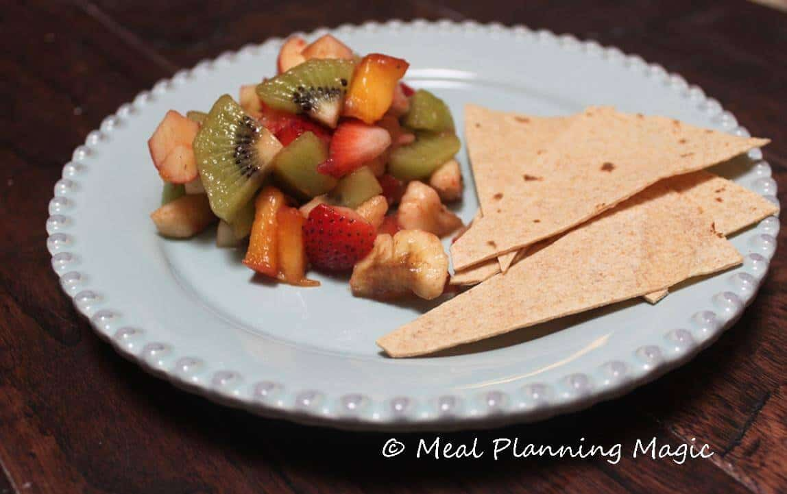 Kiwi Salsa | Meal Planning Magic | #EatingA2ZChallenge