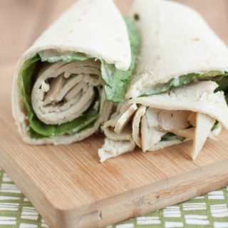 Super Simple Chicken Caesar Salad Wrap