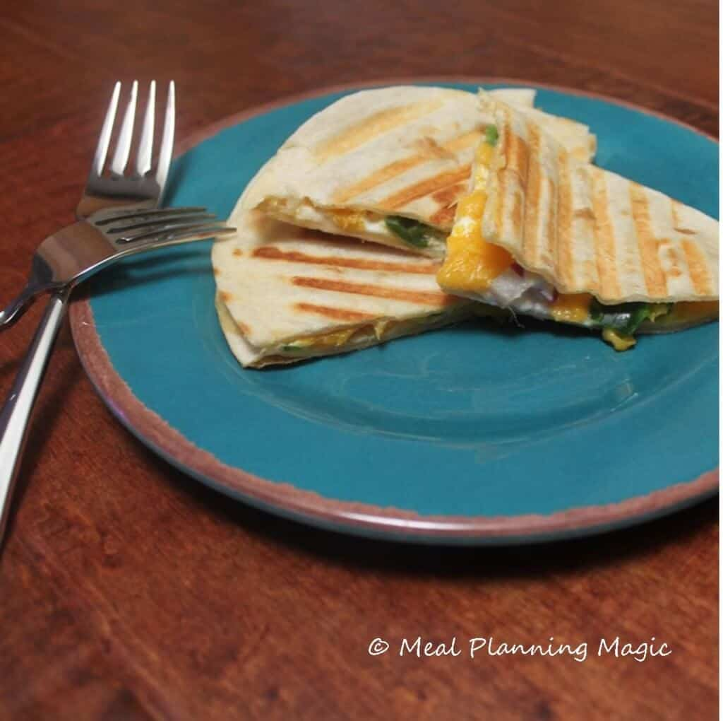 Mango Quesadilla | Meal Planning Magic | #EatA2ZChallenge