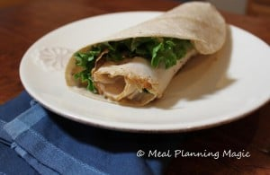 Chicken Caesar salad wraps are a delicious sandwich wrap combining chicken lunch meat with a fresh Caesar salad! Perfect make ahead meal for lunch boxes or an easy dinner.