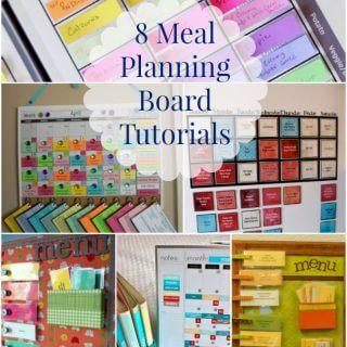8 Meal Planning Board Tutorials