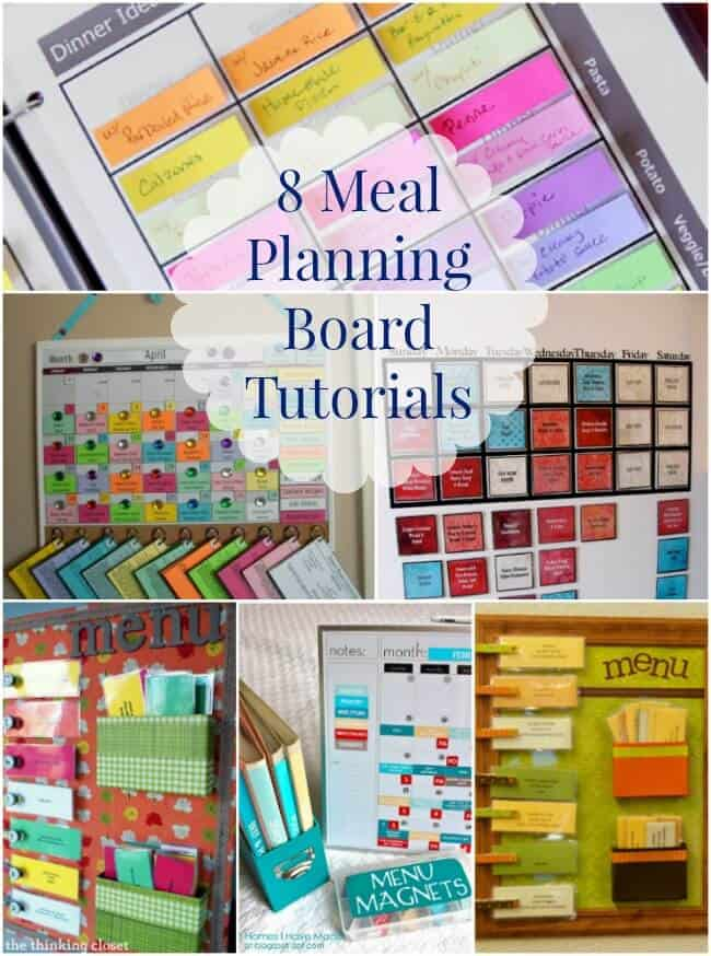 8 Meal Planning Board Tutorials