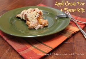 Apple Streusel Crumb Pie recipe, plus instructions to make apple pie freezer kits!