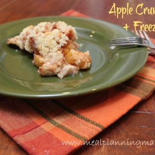 Apple Streusel Crumb Pie recipe, plus instructions to make an apple pie freezer kit