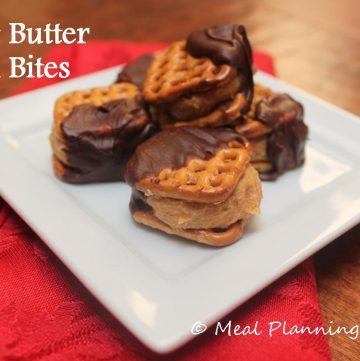 No Bake Treat - Peanut Butter Chocolate Pretzel Bites