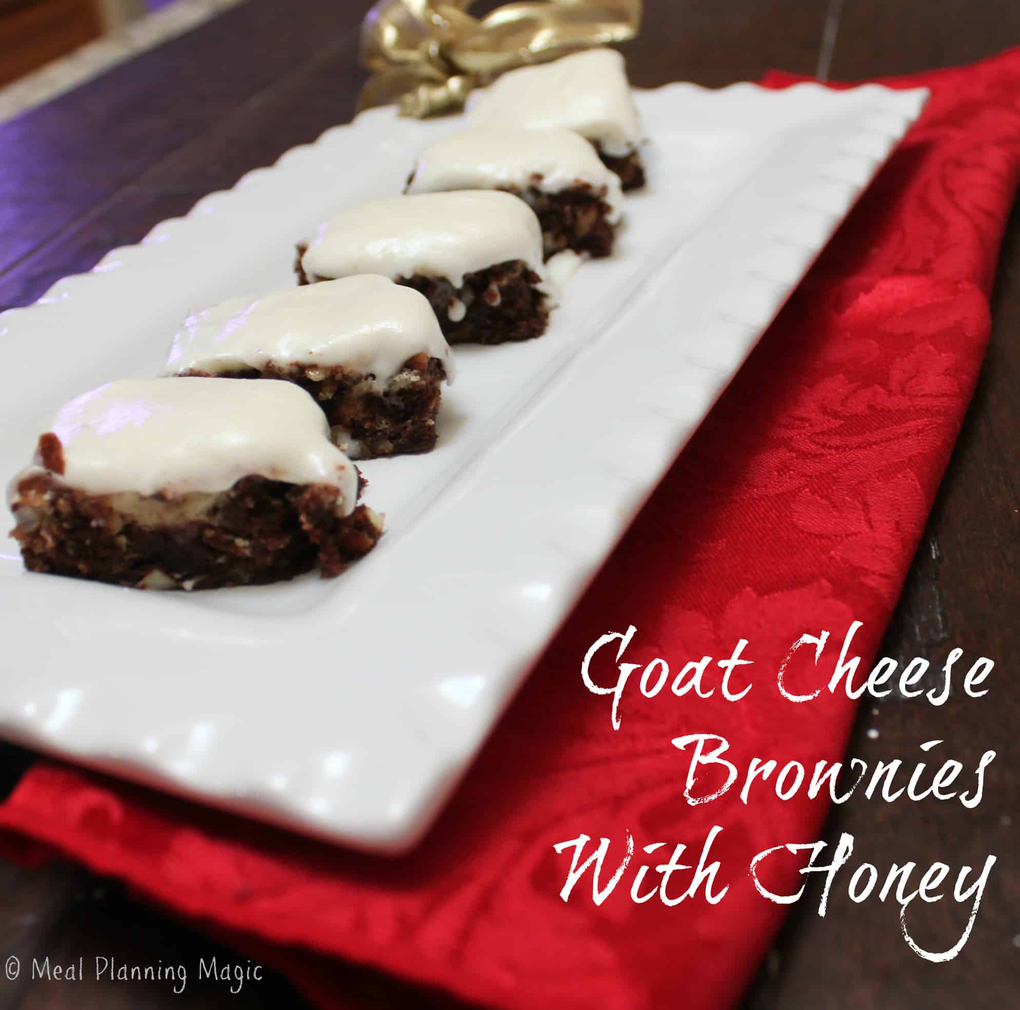 Goat Cheese Brownies With Honey - Meal Planning Magic