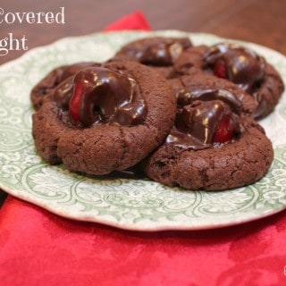 Chocolate Covered Cherry Delight Cookies