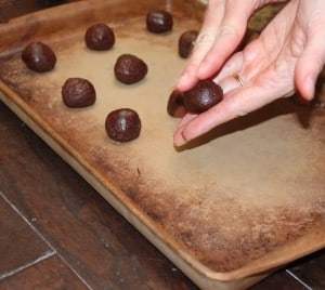 Making chocolate covered cherry delight cookies