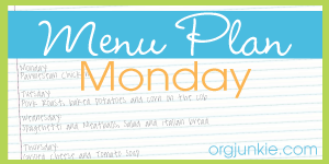 Menu Plan Monday ideas