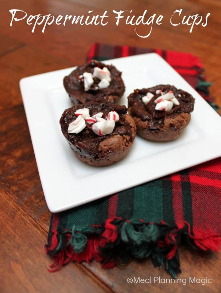 Peppermint Fudge Cups