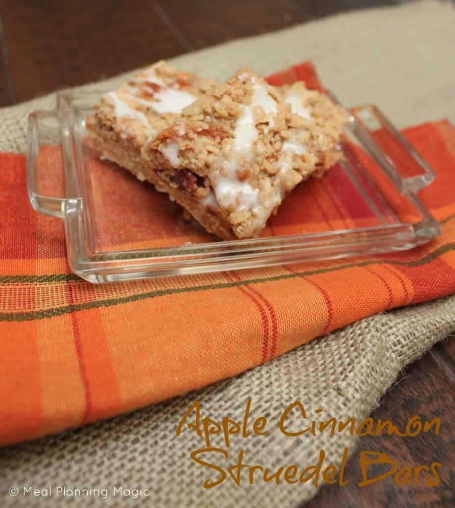 Apple Cinnamon Streusel Bars