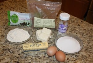 Ingredients to make fudgy brownie cake balls
