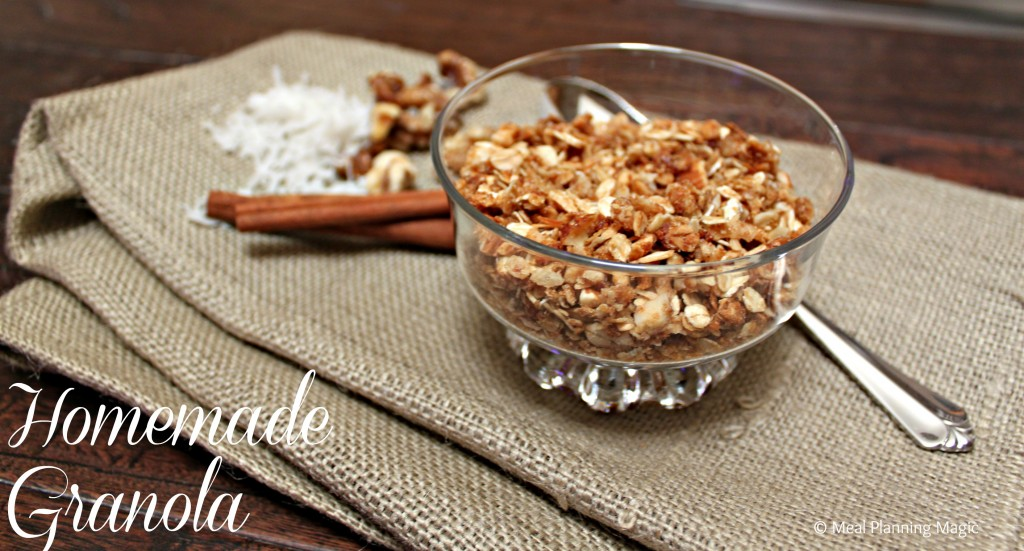 #Homemade Granola Recipe from @mealplanmom