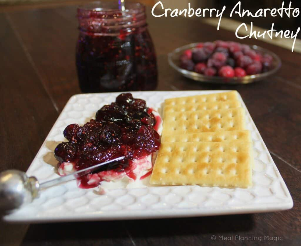 Cranberry Amaretto Chutney with Cream Cheese