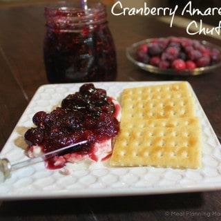 Cranberry Amaretto Chutney with Cream Cheese