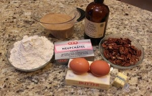 ingredients to make pecan tassies