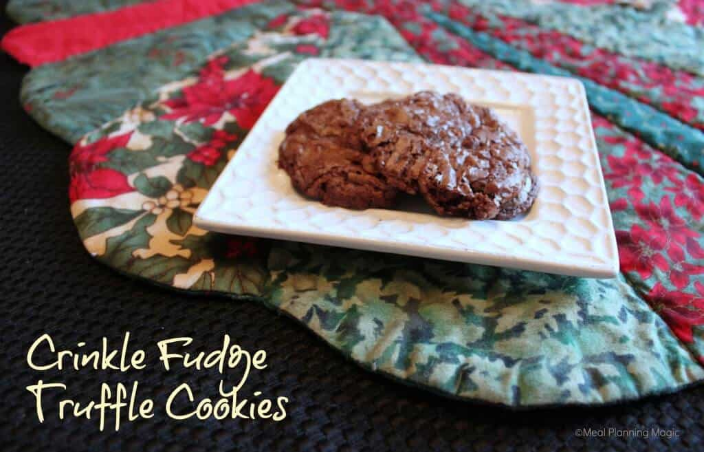 Chocolate Fudge Truffle Cookies
