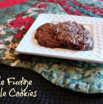 Crinkly Fudge Truffle Cookies