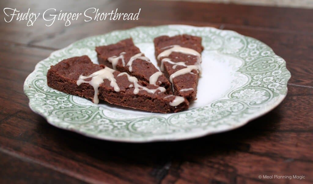 Fudgy ginger shortbread are delicious chocolate shortbread cookies with a hint of ginger flavor, perfect for any holiday cookie platter!