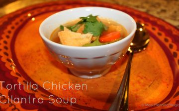 Tortilla Chicken Cilantro Soup - an easy homemade chicken soup recipe, ready in under 30 minutes!