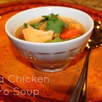 Tortilla Chicken Cilantro Soup - an easy homemade chicken soup recipe, ready in under 30 minutes!