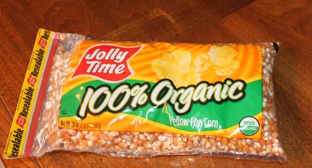 I was excited to find this organic popcorn from JollyTime at my regular  grocery store!