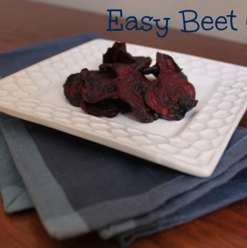 Beet Chips--so easy to make and so good for you too! | Recipe at MealPlanningMagic.com