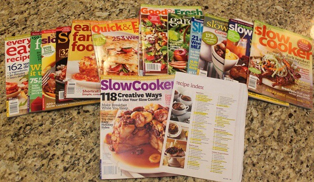 And then there's the magazine/soft cover style cookbooks that call my name whenever a new edition comes out. Thank goodness I can save 30% when I buy them at Sam's Club!