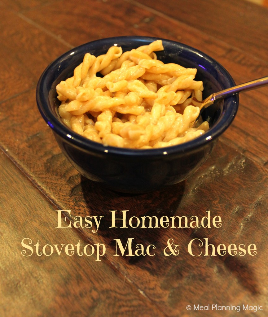 Easy Homemade Stovetop Mac & Cheese Recipe | Meal Planning Magic