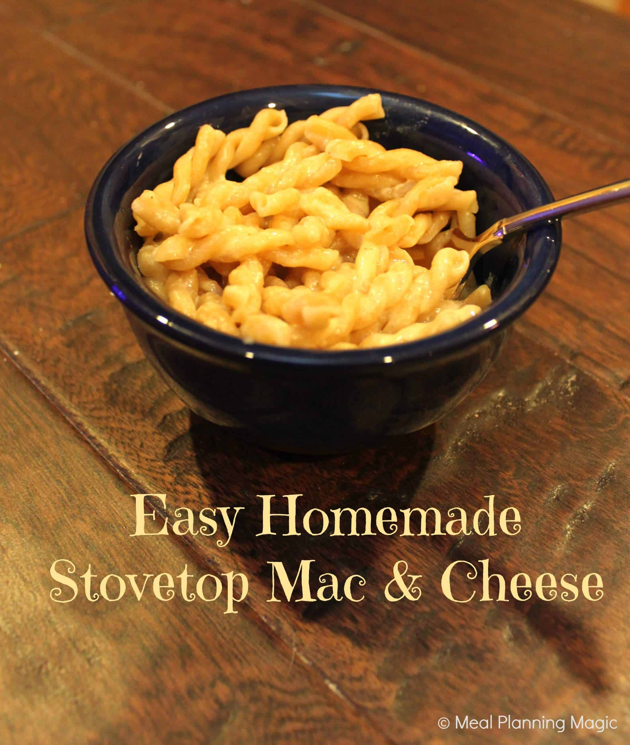 Easy Homemade Stovetop Mac & Cheese Recipe