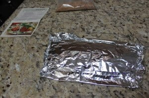 Covered it up with another piece of foil so I could keep it in the refrigerator until I was ready to bake.