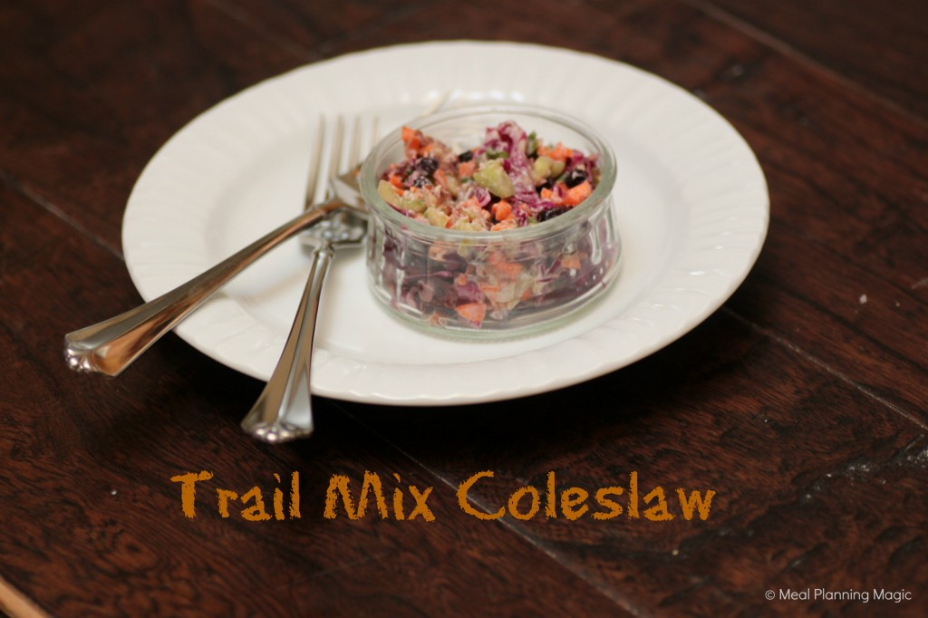 Trail Mix Coleslaw | Meal Planning Magic | #eatarainbow