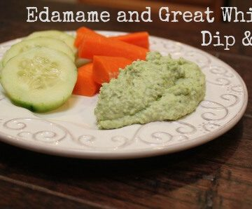 Edamame and Great Northern White Bean Dip & Spread #EatA2ZRecipeChallenge | Meal Planning Magic