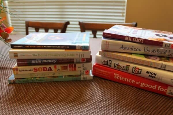 Can't forget the books I pick up at the library to check out and try. You can never have enough recipes. right?